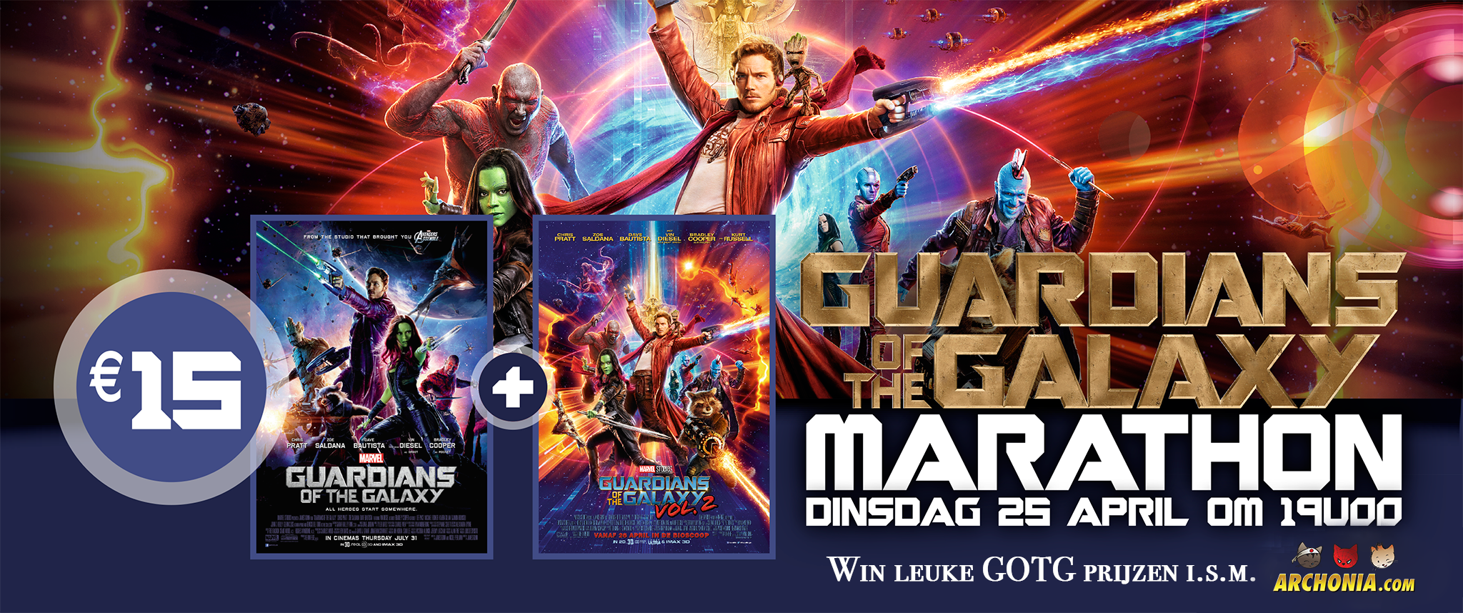 Guardians of the Galaxy Vol 2 Double Bill - Win tickets & prizes!