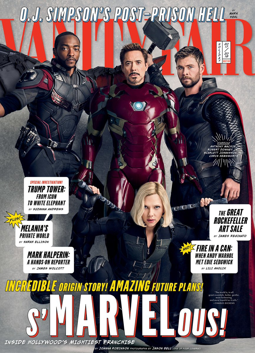 Vanity Fair Avengers Infinity War Covers